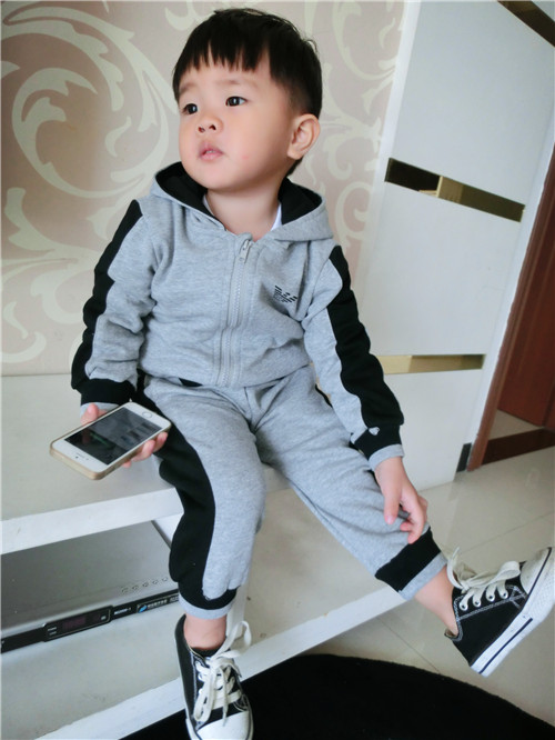 UK Long Sleeves Tracksuit Sweater 2pcs Boys Clothing Outfits Hat Set Warm Styl