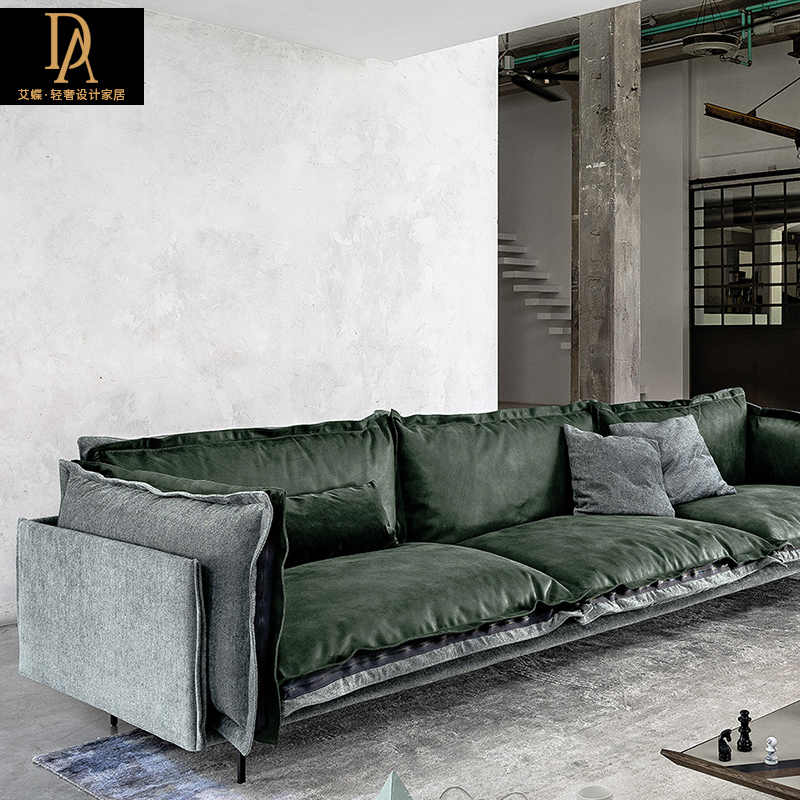 Magnificent Ai Die Double Sided Leather Sofa Large Apartment Down Sofa Bralicious Painted Fabric Chair Ideas Braliciousco