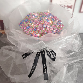 Creative lollipop bouquet DIY material handmade packaging homemade material bag shake network red birthday gift