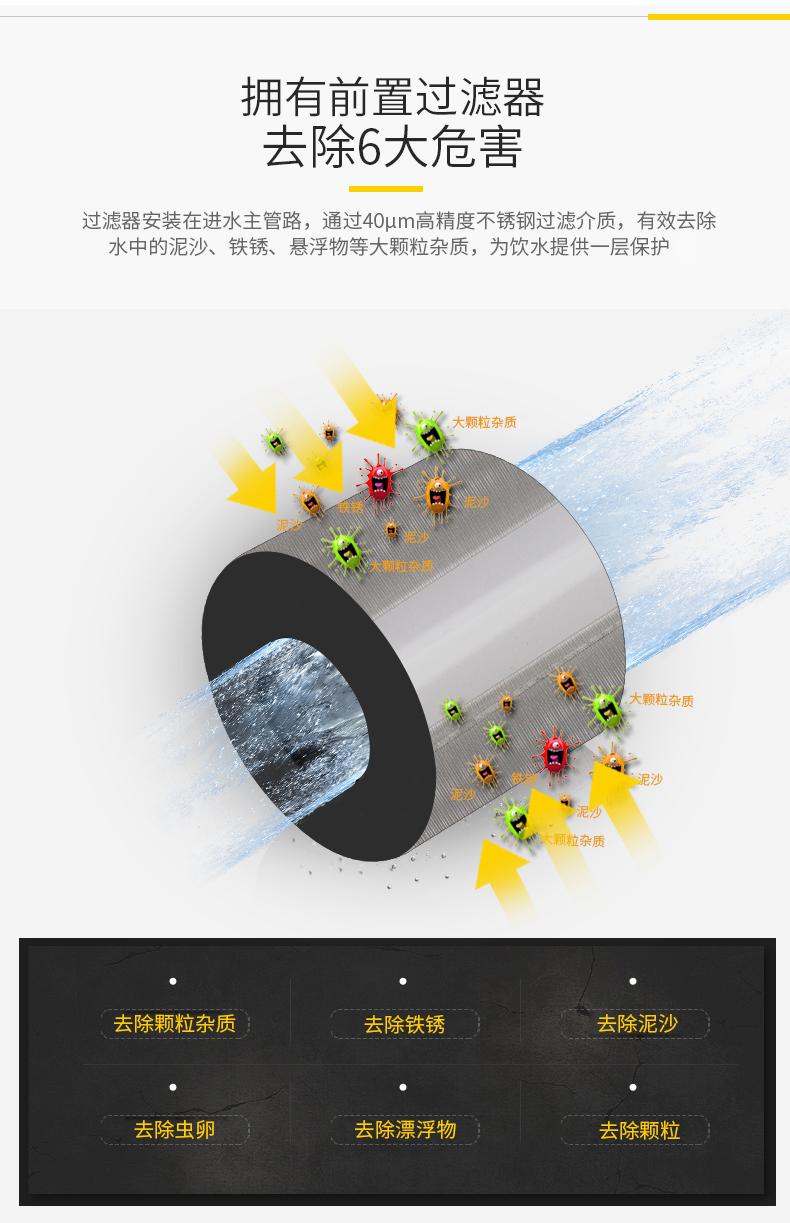 日本 雅马哈旗下 Toclas 前置过滤器 360°万向安装 无需换滤芯 699元包邮 包安装