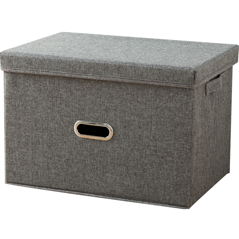 Double Cannon Folding Cotton And Linen Clothing Storage Box Fabric Covered  Wardrobe Storage Box Clothes Storage Box Storage Box