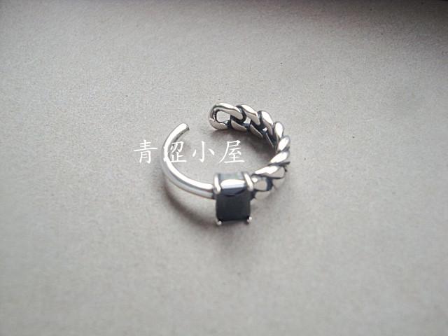 黑色玛瑙不对称链条戒指1.jpg