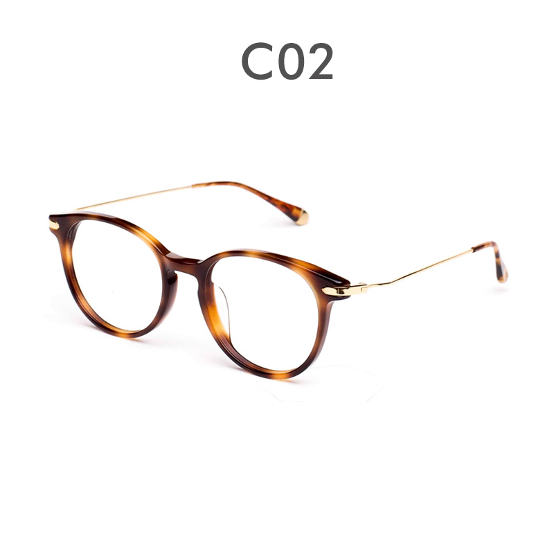 2d26477a89 Wooden ninety glasses frame jm1000005 counter new plate round frame fight  fine metal temples exquisite frame