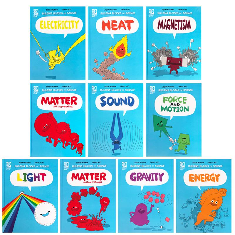 預售這就是物理10冊全套 Building Blocks of Physical Science 美國經典物理科學啟蒙漫畫英文原版 英語故事小學生科普百科全書