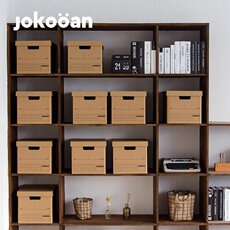 Poly lovely paper storage box with cover book sundries sorting box kraft paper storage box office storage box