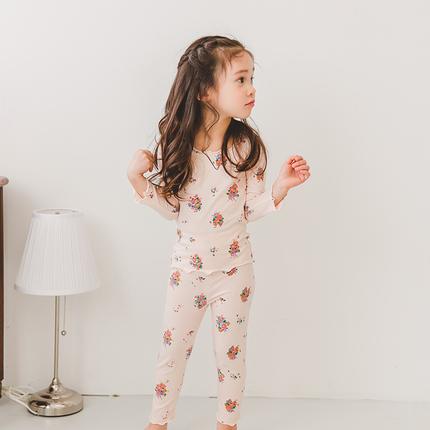 儿童睡衣女春秋纯棉套装长袖中小童女童家居服宝宝薄款夏季空调服