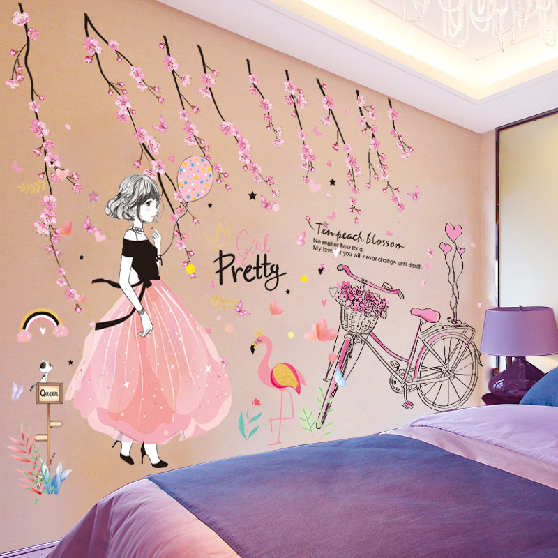 3D stereo wall stickers stickers wallpaper self-adhesive bedroom ...