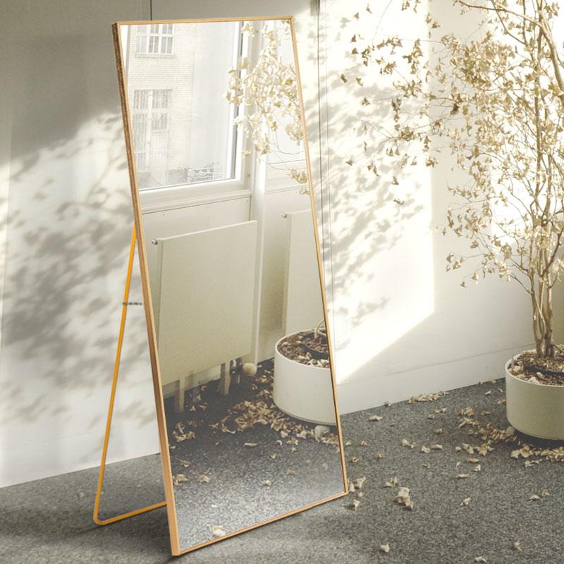 玉晶 铝合金试衣镜子全身镜 现代简约落地镜贴墙壁挂大镜子穿衣镜