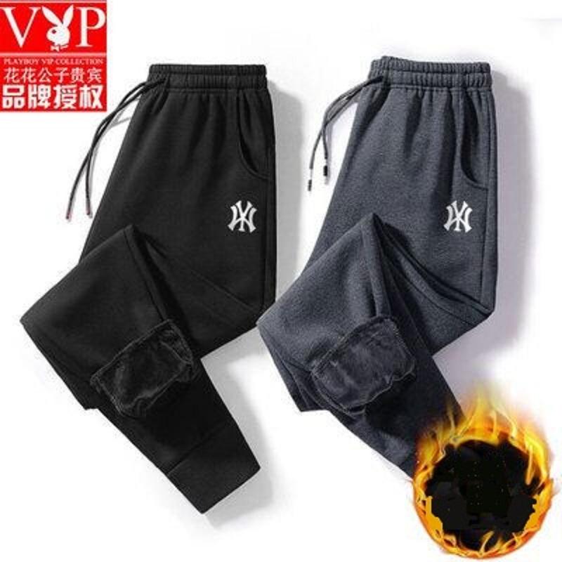 【花花公子】秋冬加绒小脚裤M-8XL