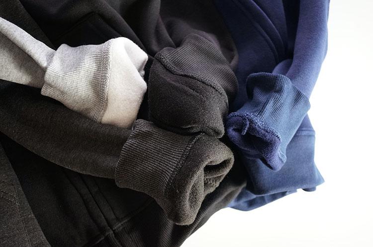 Áo len màu bốn màu! Đội mũ trùm đầu chải mùa thu ấm áp và mùa đông dây kéo túi mở ngực áo khoác đơn giản thể thao và giải trí