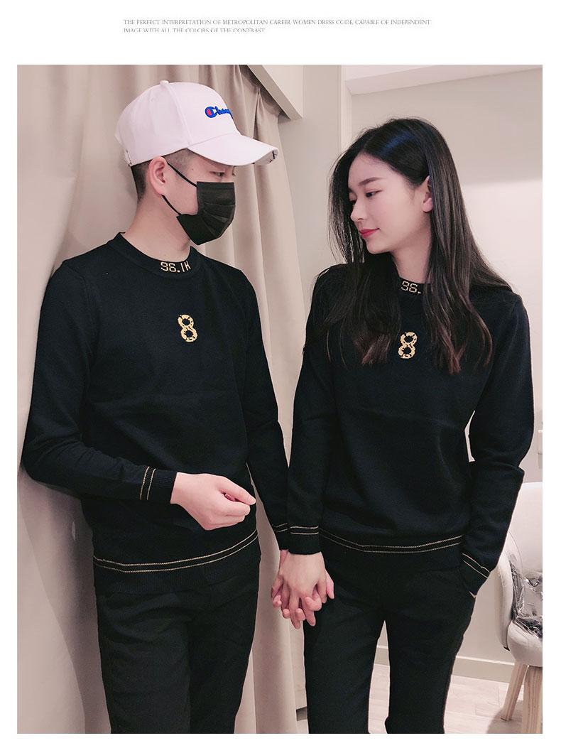 Áo len cổ tròn cho nam mùa thu đông mùa thu áo len xu hướng Hàn Quốc áo len nam mới quần áo len nam - Hàng dệt kim