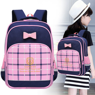 Children's schoolbag primary school students 6-12 years old ridge resistant waterproof 1-3-6 grade girls Korean backpack