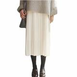 2017 осень и зима женщина новый облегающий, южнокорейская версия темперамент дикий талия поддержка строп плиссированная юбка долго юбка платье