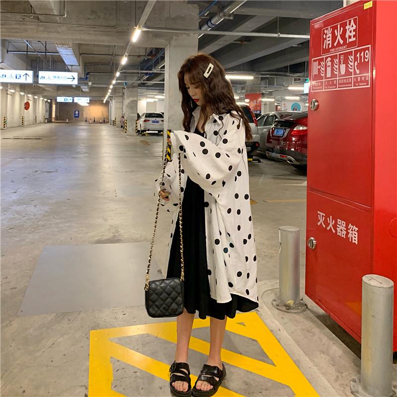 艾依狸大码吊带初秋小女装连衣裙子2019年新款夏流行件套两开衫装