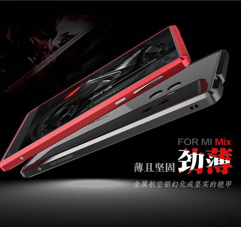 Luphie Blade Sword Slim Light Aluminum Bumper Metal Shell Case for Xiaomi Mi MIX