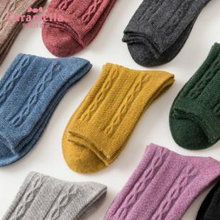 秋冬中筒加厚羊毛日系潮堆堆袜