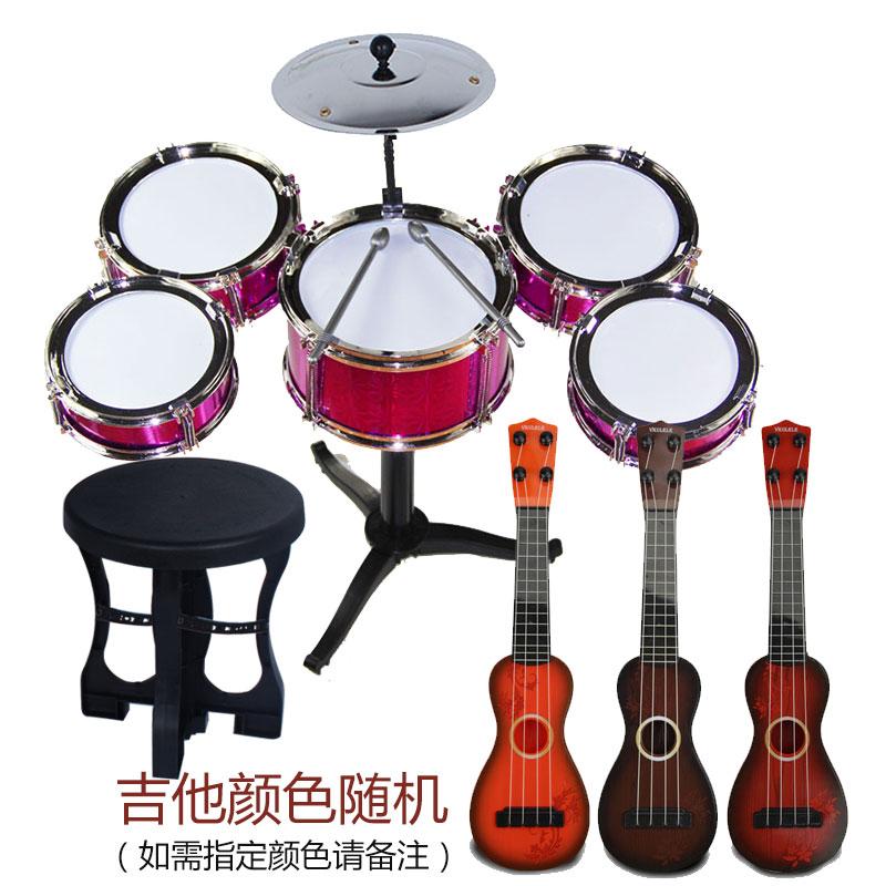 Красный Пять барабанов + стул + гитара