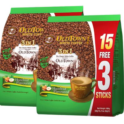 顺丰旧街场白咖啡榛果味18条X2袋装马来西亚进口3合1速溶官方旗舰