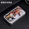 Smoking box 20 sticks with lighter one fine cigarette box creative men and women windproof charging electronic cigarette lighter