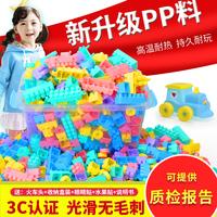 Детские Пластиковые строительные блоки игрушки 1-2 детский сад 7-8-10 головоломка модель сборки и вставки мужской Девочка 3-6 лет