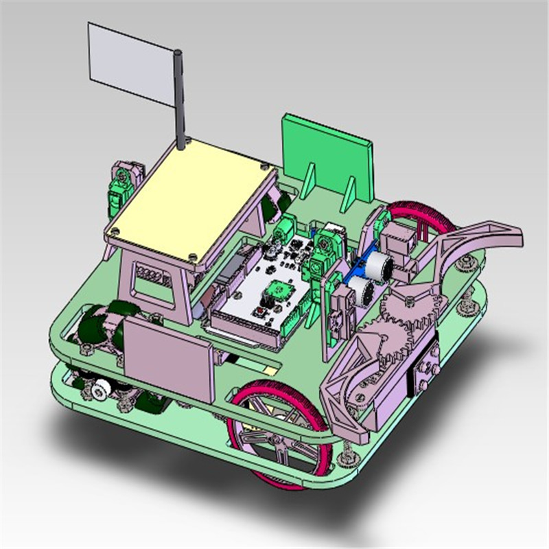 12套麦克纳姆轮小车3D图纸合集 Z66 solidworks3D图纸 机械设计参考资料设计素材