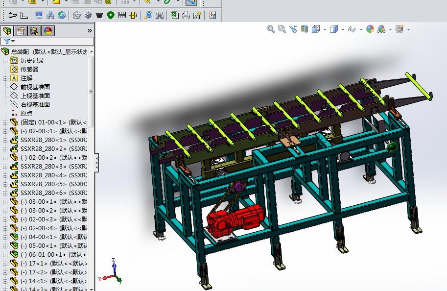 摇杆式步进料道3D图纸K441 非标自动化设备3D图纸3D模型