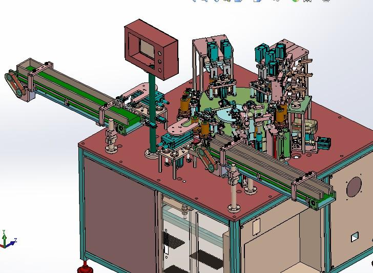 圆柱锂电池集流片自动焊接机 带工程图 G129 机械设计3D图纸素材 ZDWD2006