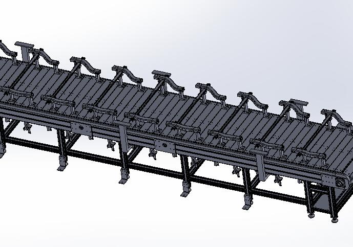 6米链板线总装3D图纸H457 k731 非标自动化设备3D图纸3D模型