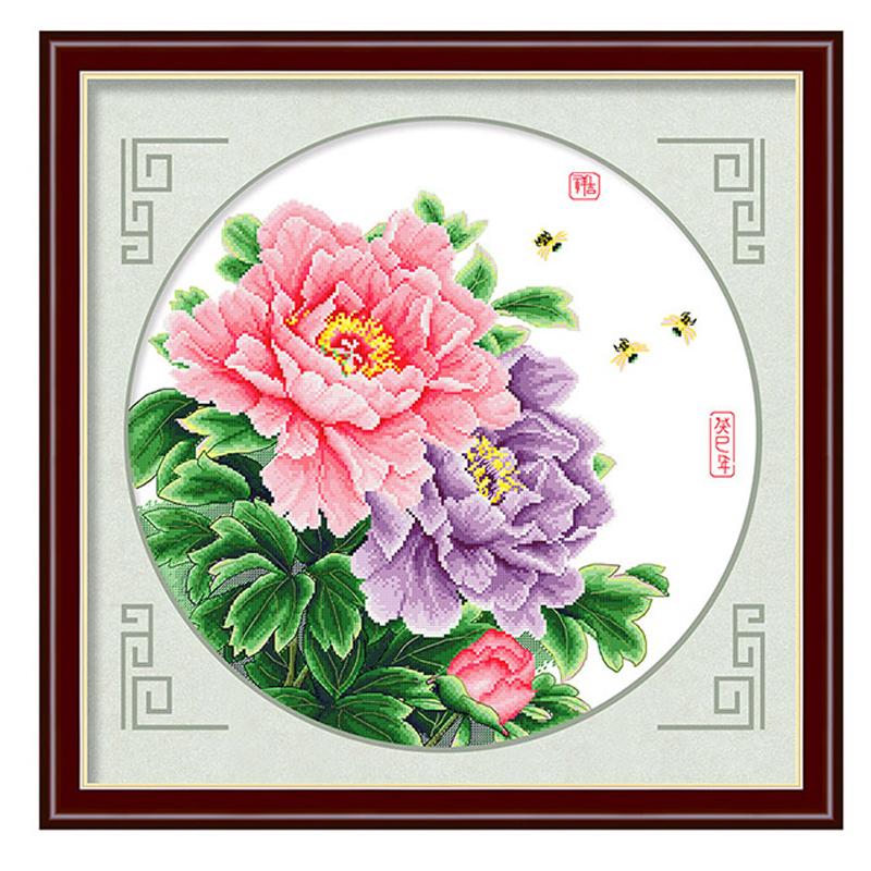 2018牡丹花开图花卉简单绣-优惠价5元销量424件