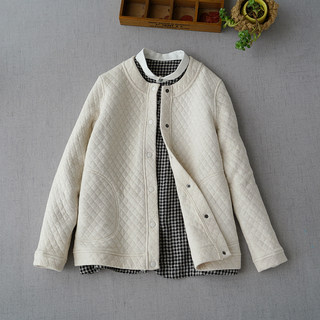 Special Japanese minimalist quilted cotton short coat female autumn and winter new good wear thin hair cotton jacket thin cotton cotton clothes