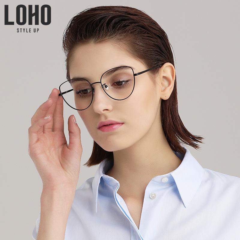 LOHO防蓝光眼镜时尚金属框护目平光镜防辐射近视眼镜男女眼镜架