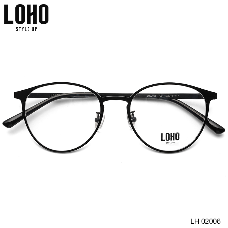 USD 175.60] LOHO optical frame New Women\'s trendy metal retro ...