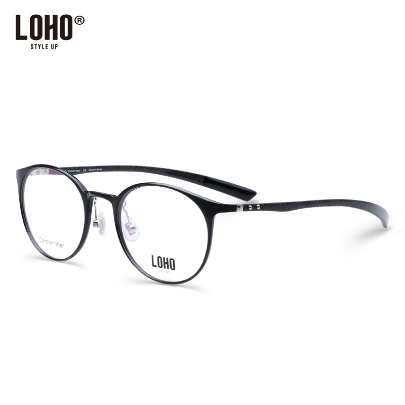 5d2250ef8f7 loho big frame myopia glasses frame female small face round carbon fiber  Ultra-Light full · Zoom · lightbox moreview · lightbox moreview · lightbox  moreview ...