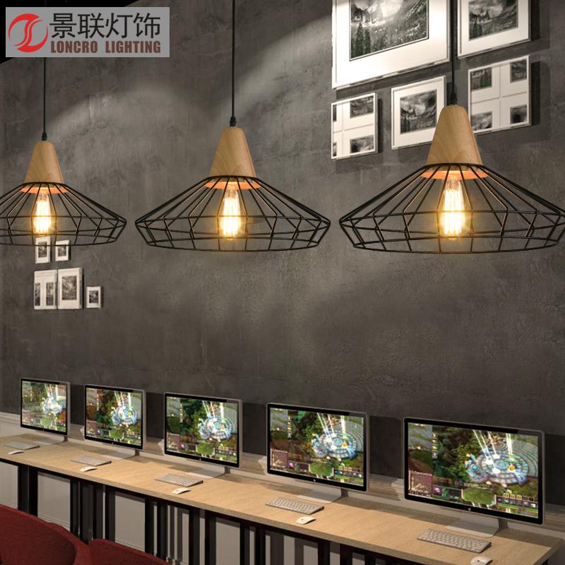 复古工业风吊灯北欧创意酒吧铁艺灯具个性餐厅咖啡厅玄关吊灯单头