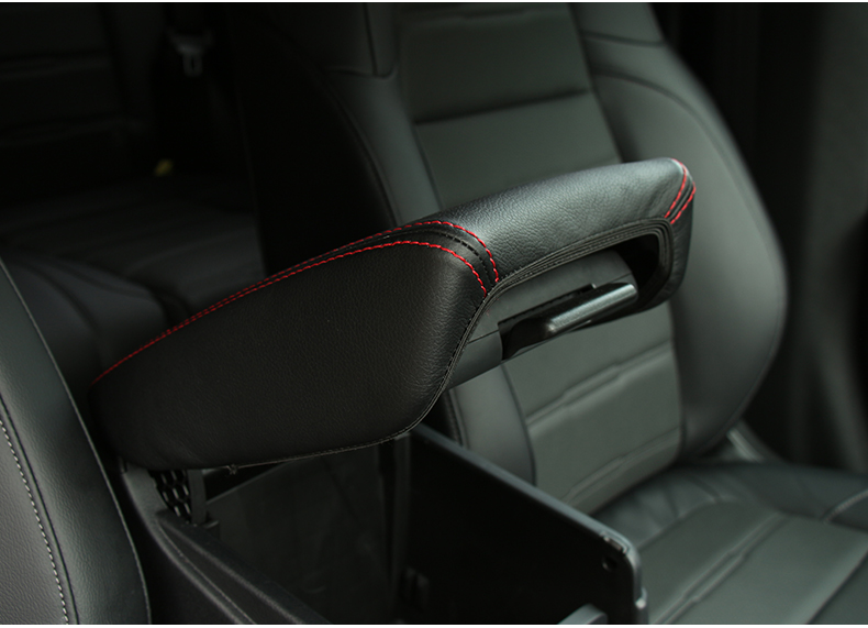 New Red Wire PU Leather Center Armrest Box Surface Cover For Honda CRV 2017 2018