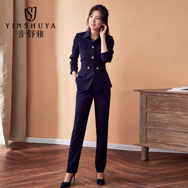 3db2674cea Suit summer professional suit female 2019 new autumn fashion teacher  interview dress suits thin section of clothing