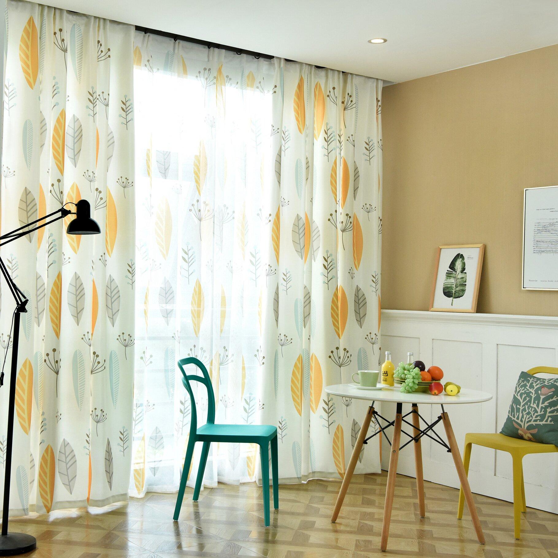 Rèm gió Bắc Âu đơn giản hiện đại nhỏ rèm tươi phòng ngủ den ban công phòng khách rèm - Phụ kiện rèm cửa