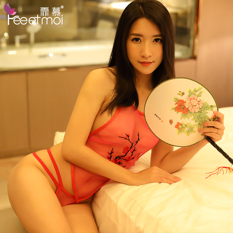 3deafb10f22 ... Envy Sexy lingerie Classical Perspective Wear Embroidery Apron Uniform  Passion kits Sexy clothes Female 7854 ...