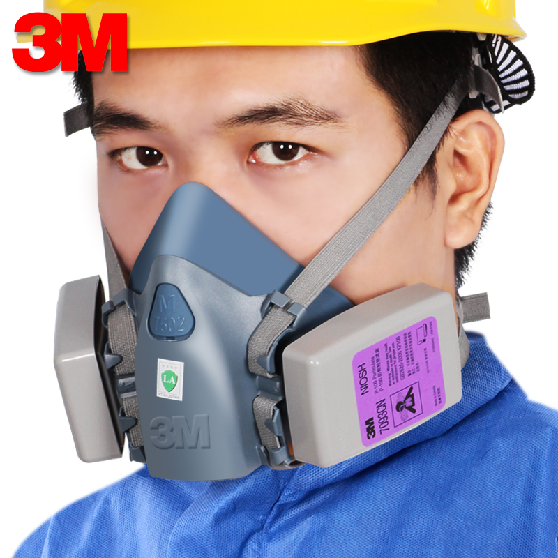 3M7502 with 7093 dust mask P100 particles glass fiber welding