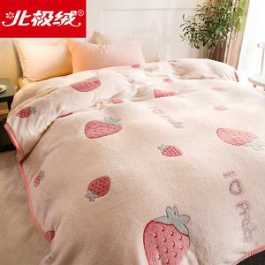 北極絨毛毯被子加厚冬季保暖珊瑚絨毯子法蘭絨床單人宿舍學生午睡