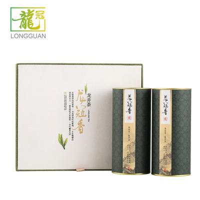 [2021新茶]龙井龙冠香送礼盒装250g二级雨前中秋节佳品正宗绿茶叶