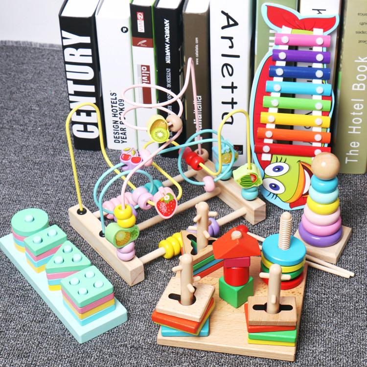 婴儿童串珠绕珠6-12个月早教益智积木1-3周岁男女孩一岁宝宝玩具_天猫超市优惠券