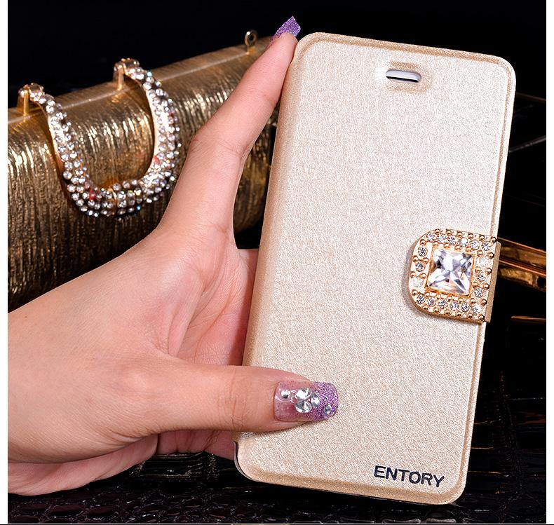 三星note2翻盖支架n7100手机壳n719水钻磁扣蚕丝gt n7108d保护套图片