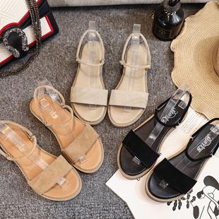 【利进】时尚百搭真皮女凉鞋