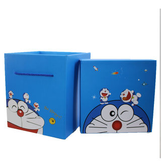 Square Gift Box Packaging Box Doraemon Holy Day Snacks Children's Day Gift Box for Children