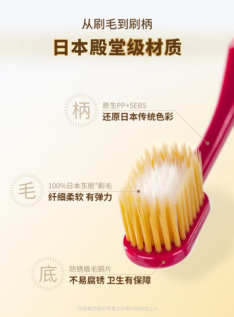 日本进口 EBISU 第2代升级款 65孔8列组合牙刷 三层植毛 4只 图9