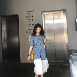 pphome心机设计感慵懒风复古bf长裙00后超仙樱田川岛imiss裙子夏