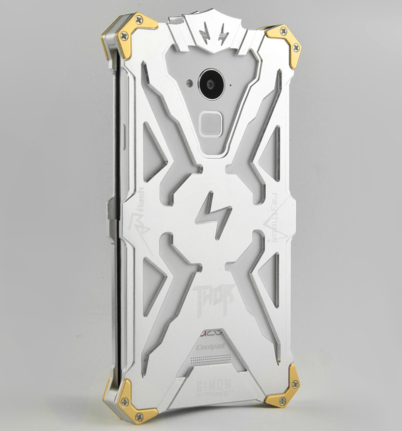 SIMON THOR Aviation Aluminum Alloy Shockproof Armor Metal Case Cover for Coolpad Note 3 8676