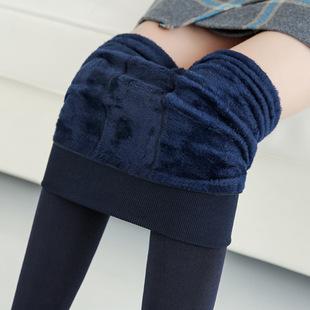 踩脚保暖外穿加绒加厚珍珠绒打底裤