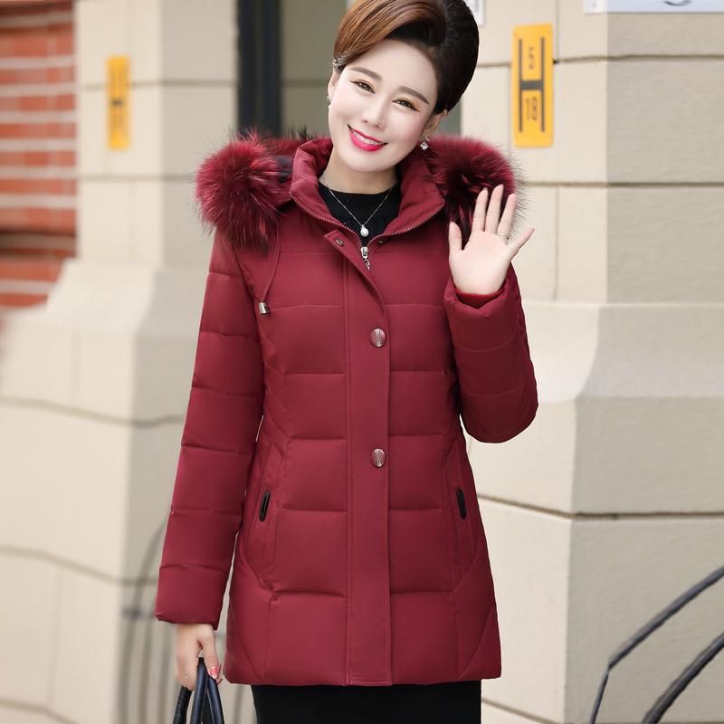 妈妈装棉衣女装短款加厚40岁50中老年羽绒棉服中年人冬装棉袄外套